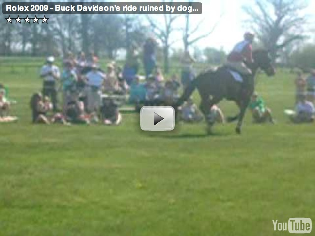 Buck Davidson Attacked by Dog at Rolex